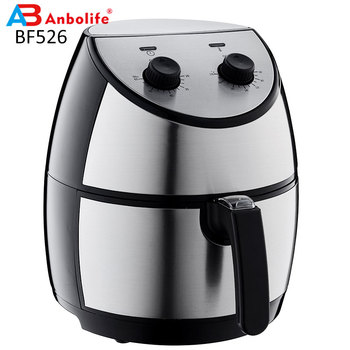 Stainless Steel Electric Hot Round Shape Air Fryer Oven Healthy Cooking without Oil Mechanical Control Air Fryer
