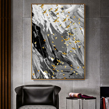 Abstract Modern line Art 100% Hand Painted Oil Painting on Canvas Wall Art Deco Home Decoration for living room