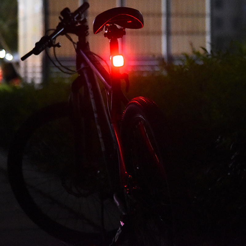 USB rechargeable waterproof Tail Rear Bicycle Light for seatpost with buzzer and braking sensor