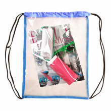 2019 Custom Branded Durable Thick Eco Clear PVC Transparent <strong>Backpack</strong> Drawstring Bag with your logo