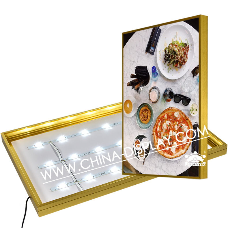 Restaurant Wall Mounted Acrylic <strong>Led</strong> Slim Menu Light <strong>Box</strong> A3 A2 A1 <strong>A0</strong> With Magnetic Panel