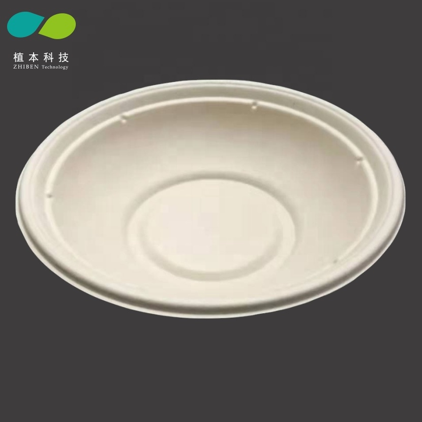 ZHIBEN <strong>A08</strong> Biodegradable bowls disposable,Eco Disposable paper bowl,Biodegradable sugarcane pulp molded bowl