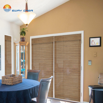 Bamboo Blinds Semi-sheer Rolling Up Roman Style Bamboo Shades Natural Made Shutter With Valance No.BB_XPS