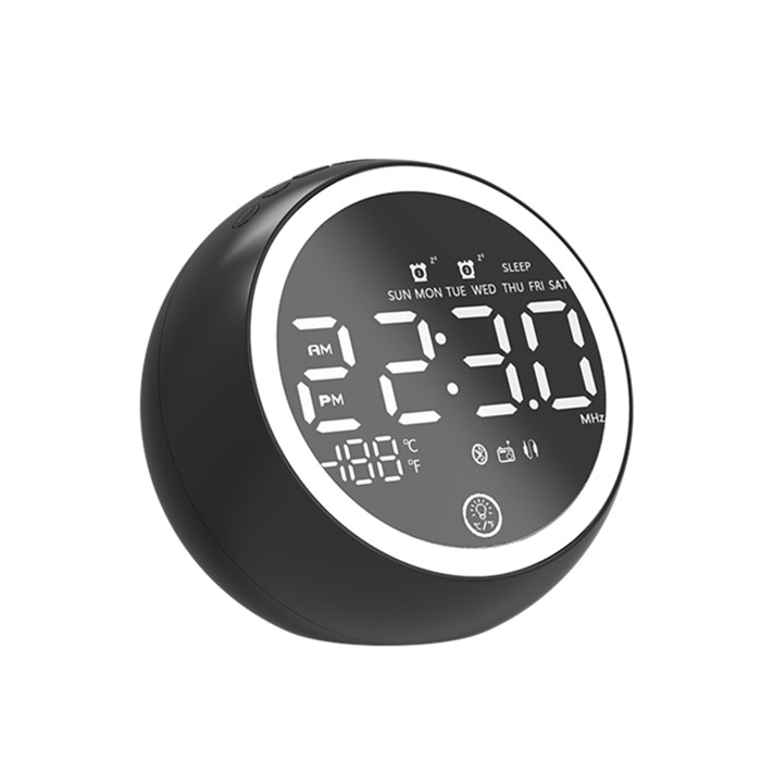 <strong>X10</strong> Bluetooth speaker dimmer light mirror alarm clock non ticking powered with <strong>battery</strong> 2000mah