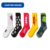 OEM personalized logo custom design pattern athletic white black men tube cotton sports socks sox crew sport socks stock lot