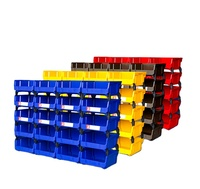 Amazon hot sale warehouse storage tool box organizers stackable plastic storage tool parts bin bolt storage bins