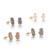 fashion 925 silver needle prong setting crafts jewelry natural druzy stone rectangle butterfly back stud crystal earrings