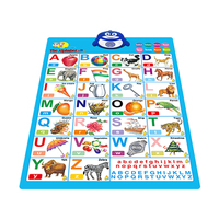 Baby toys wall chart with animal design and voice for children education