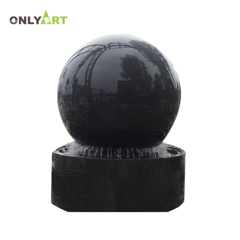 Decoration outdoor stone garden round floating ball water fountain