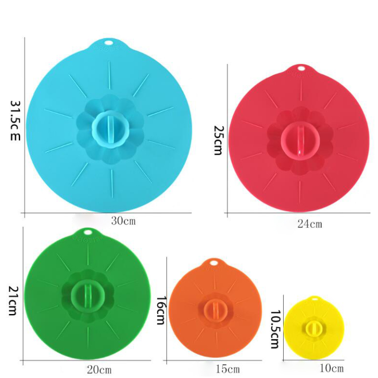 Amazon Hot Selling Eco-friendly Reusable Food Grade Silicone lid