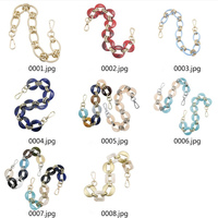 Deepeel CN002 Colorful Fashion Resin Chains For Handbag Replacement Handle Shoulder Strap Purse Ring Bag Accessories Chain