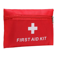 Tactical First Aid Kit for Driving Traveling Outdoor Home Using Red Portable First Aid Kit with Supplies