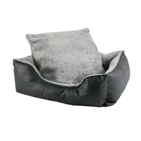 Luxury Pu Leather Waterproof PP Cotton Filling Sofa Bed Comfortable Warm Sleeping Pet Bed Dog
