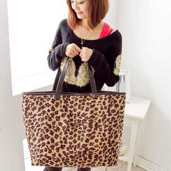 WHS Cheap leopard print large handbags from china