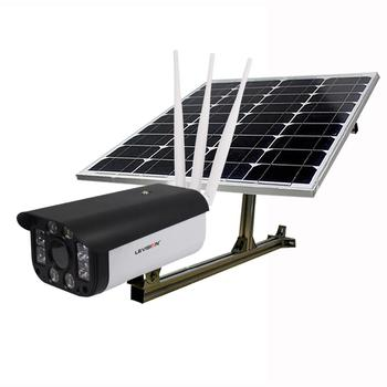 LS VISION 1080P 3G 4G GSM LTE 50W P2P Remote Wifi Wireless Outdoor CCTV Camera Solar Power Surveillance System with Solar Panel