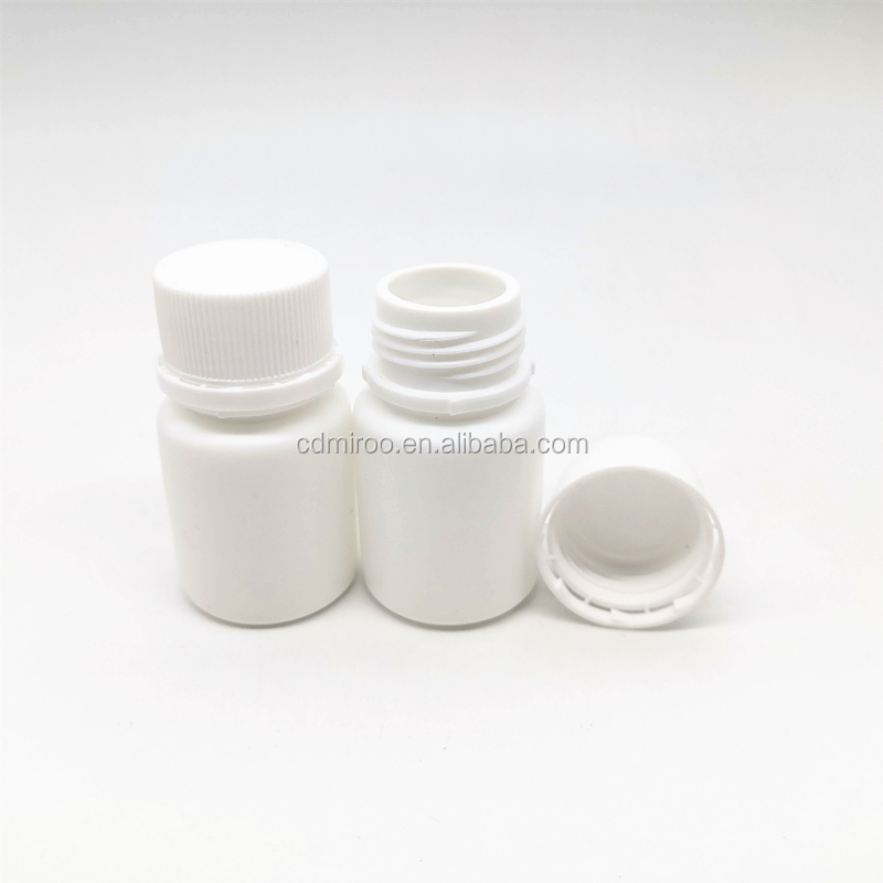 20cc HDPE mini healthy bottles, medicine <strong>pill</strong> bottles tamper proof screw cap with sealer