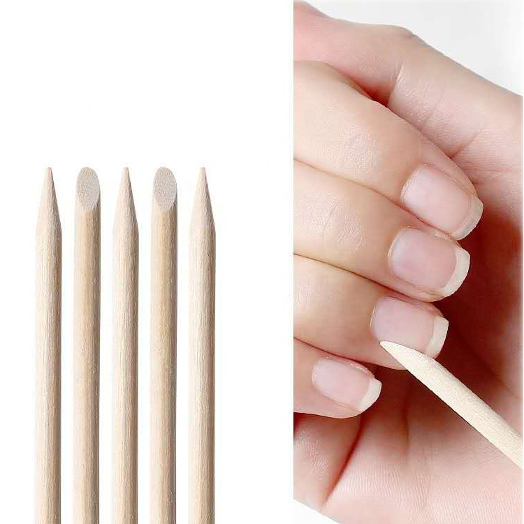 Wholesale Cheap Nail Accessories Wood Nail Sticks, Orange Wood Cuticle Stick for Cleaning, DIY Decoration