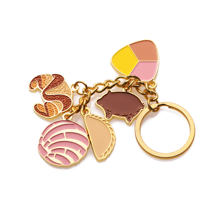 top selling custom gold key chain cute cartoon bear keychain
