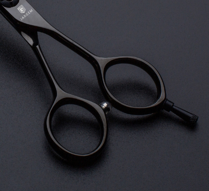 Jargem 5.0 inch black coated barber scissors hair cutting scissors Japan VG10