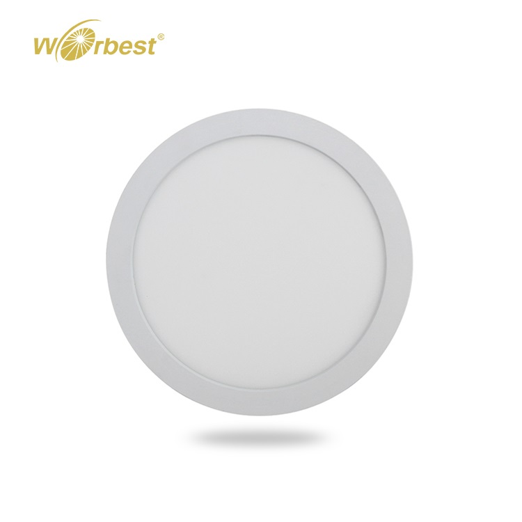 Worbest Etl Ultra Slim Round Square Led Small Panel surface mount indoor 6w 12w 18w 24w Flat Panel Lights