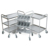 Mobile plastic shelf storage aluminium shelving for supermarket store