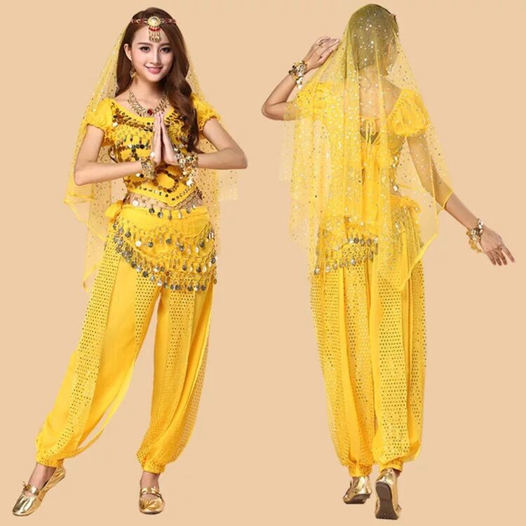 Wholesales Dance衣装Indian Suit Bollywood Performance Professional Arabic Belly Dance Costumes Sets