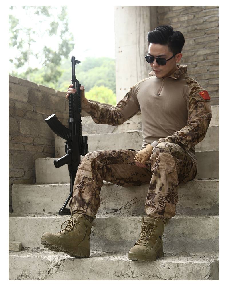 Custom american army jungle martin combat men's boots tactical military equipment shoes desert for retail