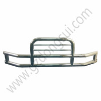 Dongsui 304 Stainless Steel Deer Grille Bumper Guard for VNL Cascadia Heavy Duty Semi Truck