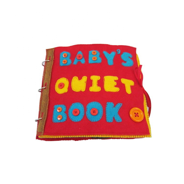 Wholesale educational soft felt fabric toys baby <strong>book</strong>