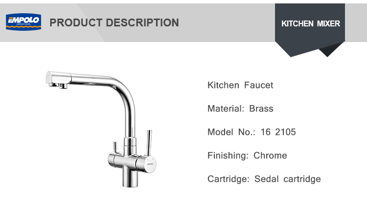 New Chrome Plated Water Filter 3 Way Ro Faucet For Kitchen Sink Fitting Basin Mixer Tap With Long Handle
