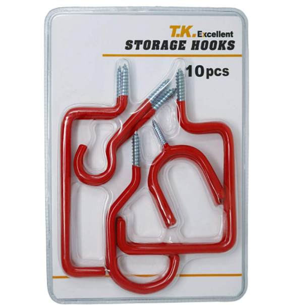 Bike Storage <strong>Hooks</strong> 10 Pack - Heavy Duty Bicycle Storage <strong>Hooks</strong> Wall Mounted <strong>Hook</strong> Set for Mountain/Road Bikes Screw-