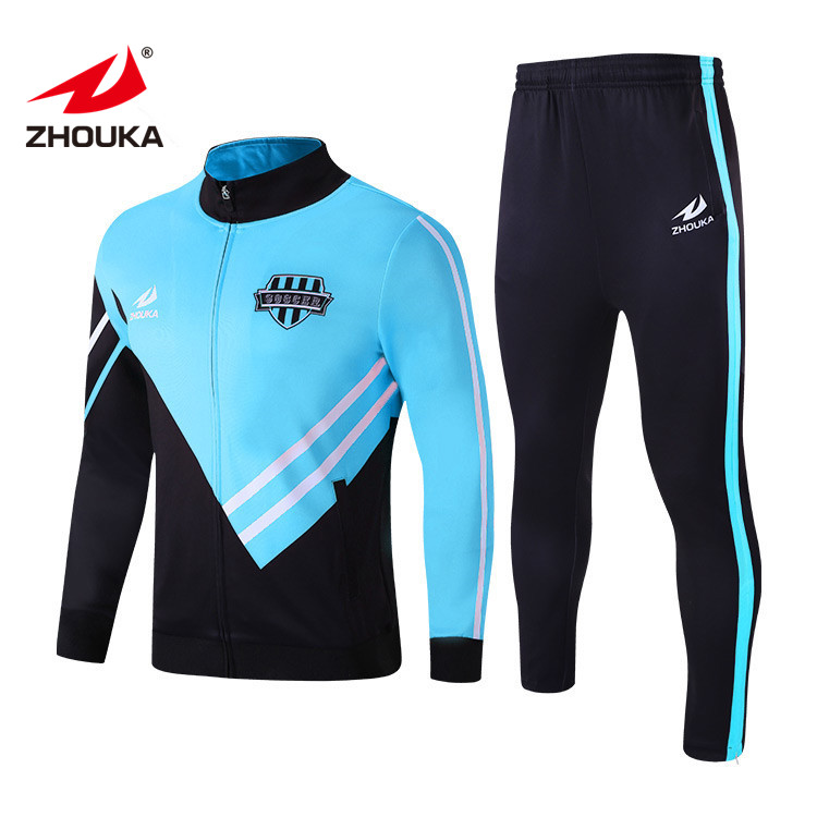 Sky Blue <strong>Mens</strong> 210/230/260/280g Slim Fit Wholesale Sublimated Sweatsuit Sportswear Jogger Suit Running Wear Tracksuit