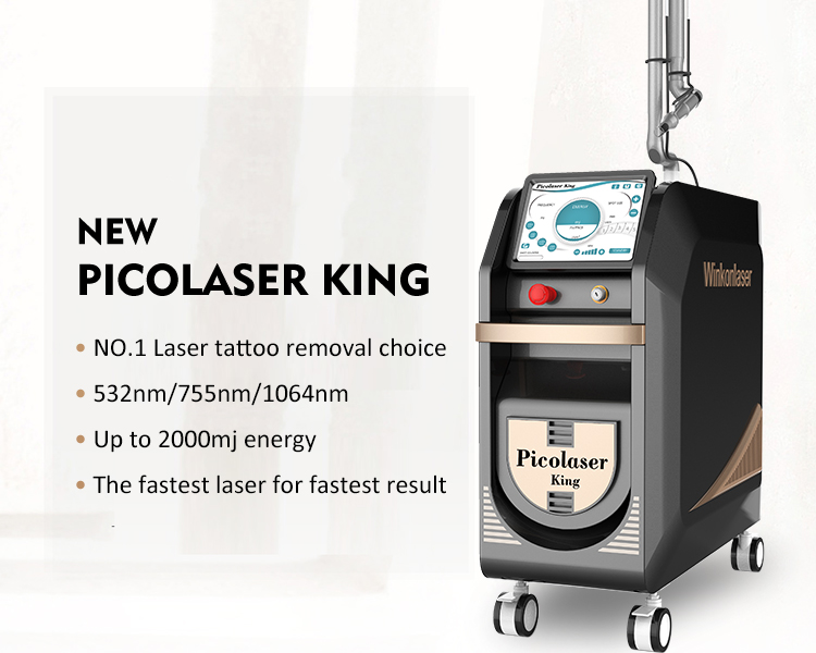 Presale 1064 nm 755nm 532nm Picosecond q switched Nd Yag Laser Picosecond Pico Laser Tattoo Removal machine  price