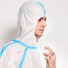 Waterproof Chemical Resistant <strong>Safety</strong> Protective Clothing Microporous Type 4/5/6 Disposable Coverall