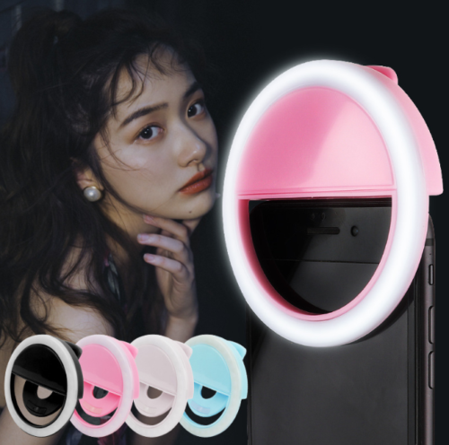 Portable Rechargeable 3W Luxury Selfie LED Camera Ring Flash Fill Light For Mobile Phone F12 80x30mm 100 mah 1A 5V