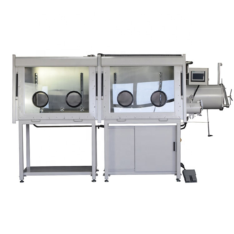 "Dual Chamber Glove Box (94"" x 31"" x 36"") with Gas Purification System (H2O&O2< 1ppm) and Openable Left Front Window - CY-VGB-6-I"