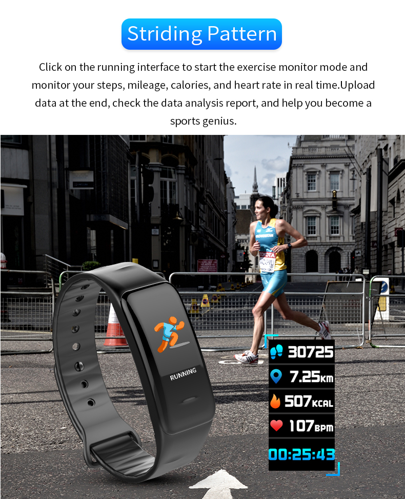 CYKE Heart Rate Monitor Smart Wristband Bracelet Fitness Wearable smart wristband with factory price