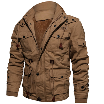 Drop Shipping Thick Warm Parka Fleece Casual Winter Army Men's Jacket