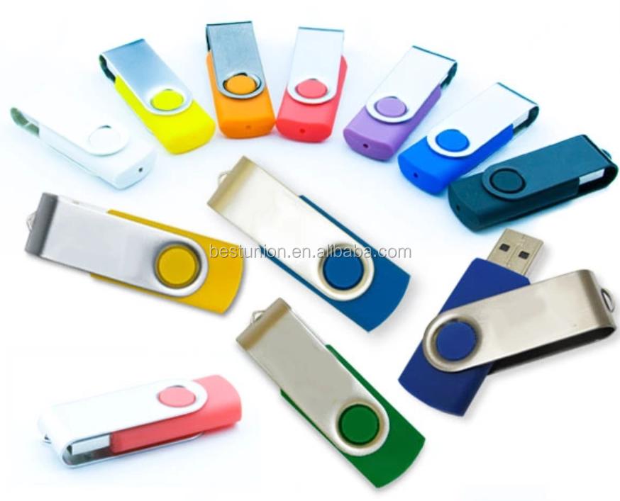 2019 Promotional 2GB 4GB 8GB 16GB swivel USB 2.0 pendrive 3.0  USB flash drive with customized logo