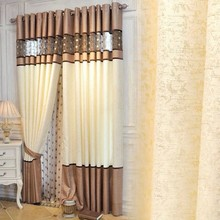 New Product Ideas Splicing Colors Chenille Window Curtain Coverings Fit Home Decor <strong>Blackout</strong> Curtains