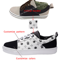 OEM/ODM Vulcanized Flat Casual Sneakers Canvas Custom Men Shoes