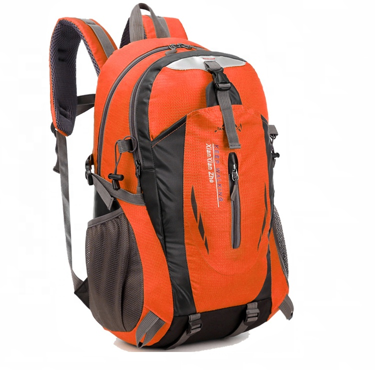 Wholesale Orange University Sports Waterproof Travel Backpack Teenage <strong>Bag</strong>