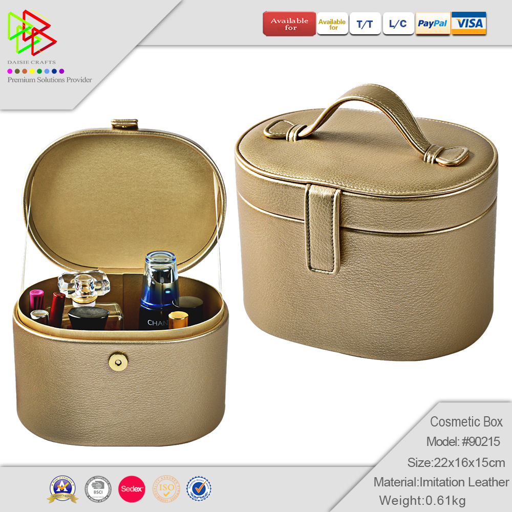 Alibaba wholesale price leather makeup box case