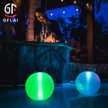 GFLAI IP67 Waterproof <strong>24</strong> Key Remote Control Solar Charging Floating LED Beach Ball