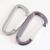 Promotional OEM Metal Aluminum D-Ring Spring Loaded Gate Small Keychain Carabiners Clip