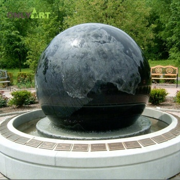 Stone Floating  Large Outdoor Garden Round Ball Water Fountain