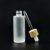 empty cream spray bottle 30ml 50ml 100ml 120ml 150ml frosted glass bottle with bamboo pump lid