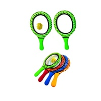 Toss and Bounce Ball Set Bouncing Paddle Koosh Ball Bounce Racket with Handle
