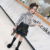 KS3193  Winter girls long sleeve t shirt velvet thick fashion leopard tshirt