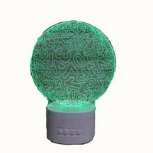 KS 3DBT-573 rechargeable 3d led night light <strong>bluetooth</strong> <strong>speaker</strong>